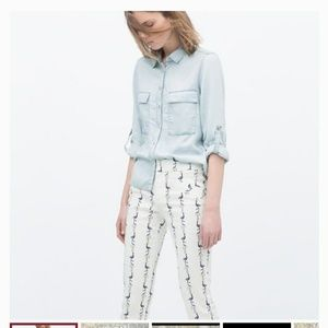 Zara Basic Pants with Flamingos